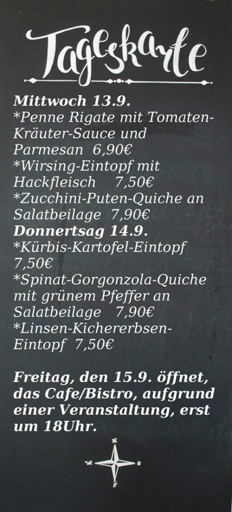 Tageskarte Café-Bistro Fischhalle Harburg
